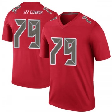 Youth Nike Tampa Bay Buccaneers Patrick O'Connor Red Color Rush Jersey - Legend