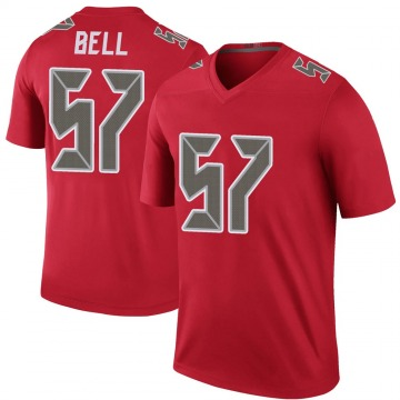 Youth Nike Tampa Bay Buccaneers Quinton Bell Red Color Rush Jersey - Legend