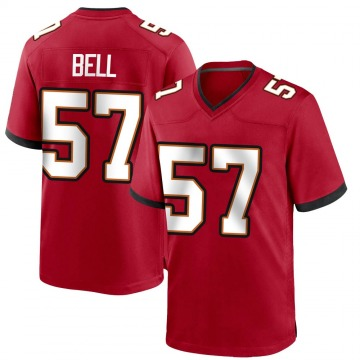 Youth Nike Tampa Bay Buccaneers Quinton Bell Red Team Color Jersey - Game