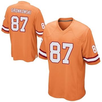 Youth Nike Tampa Bay Buccaneers Rob Gronkowski Orange Alternate Jersey - Game