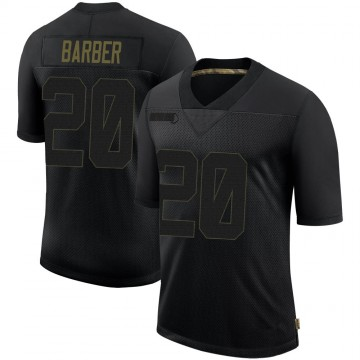 Youth Nike Tampa Bay Buccaneers Ronde Barber Black 2020 Salute To Service Jersey - Limited