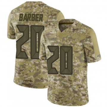 Youth Nike Tampa Bay Buccaneers Ronde Barber Camo 2018 Salute to Service Jersey - Limited