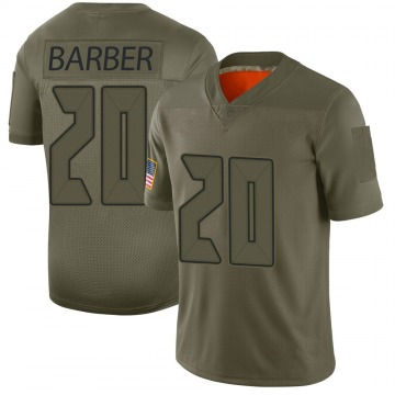 Youth Nike Tampa Bay Buccaneers Ronde Barber Camo 2019 Salute to Service Jersey - Limited