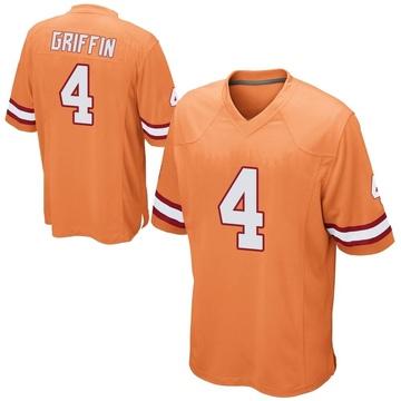 Youth Nike Tampa Bay Buccaneers Ryan Griffin Orange Alternate Jersey - Game