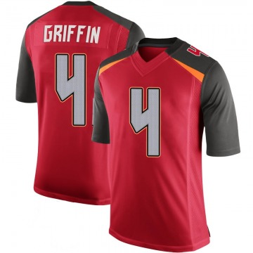 Youth Nike Tampa Bay Buccaneers Ryan Griffin Red 100th Vapor Jersey - Limited