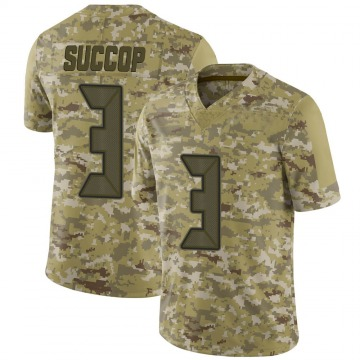 Youth Nike Tampa Bay Buccaneers Ryan Succop Camo 2018 Salute to Service Jersey - Limited