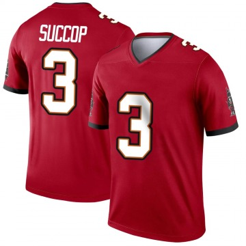 Youth Nike Tampa Bay Buccaneers Ryan Succop Red Jersey - Legend