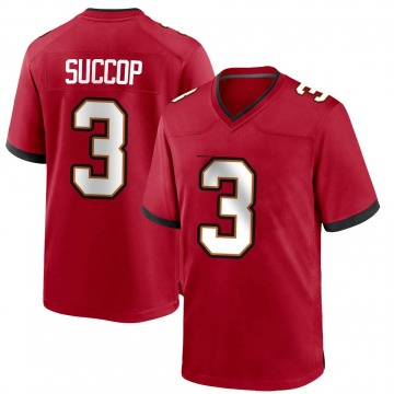 Youth Nike Tampa Bay Buccaneers Ryan Succop Red Team Color Jersey - Game