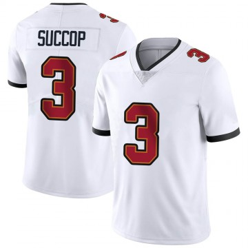 Youth Nike Tampa Bay Buccaneers Ryan Succop White Vapor Untouchable Jersey - Limited
