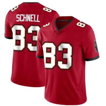 Youth Nike Tampa Bay Buccaneers Spencer Schnell Red Team Color Vapor Untouchable Jersey - Limited