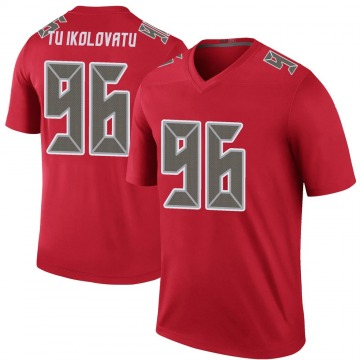 Youth Nike Tampa Bay Buccaneers Stevie Tu'ikolovatu Red Color Rush Jersey - Legend