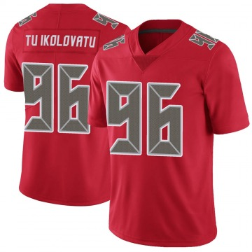 Youth Nike Tampa Bay Buccaneers Stevie Tu'ikolovatu Red Color Rush Jersey - Limited