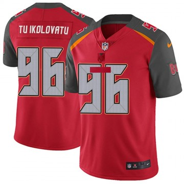 Youth Nike Tampa Bay Buccaneers Stevie Tu'ikolovatu Red Team Color Vapor Untouchable Jersey - Limited