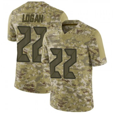 Youth Nike Tampa Bay Buccaneers T.J. Logan Camo 2018 Salute to Service Jersey - Limited