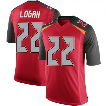 Youth Nike Tampa Bay Buccaneers T.J. Logan Red 100th Vapor Jersey - Limited