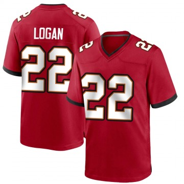 Youth Nike Tampa Bay Buccaneers T.J. Logan Red Team Color Jersey - Game