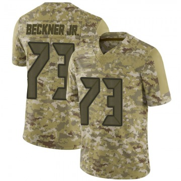 Youth Nike Tampa Bay Buccaneers Terry Beckner Jr. Camo 2018 Salute to Service Jersey - Limited