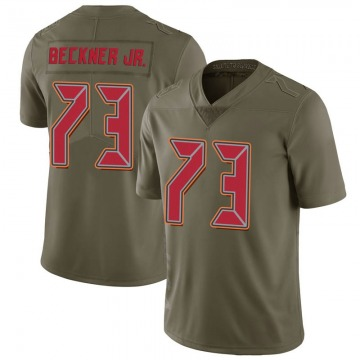 Youth Nike Tampa Bay Buccaneers Terry Beckner Jr. Green 2017 Salute to Service Jersey - Limited