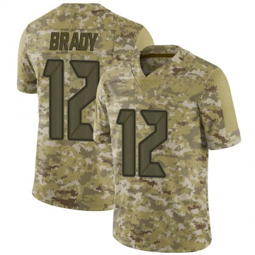 Youth Nike Tampa Bay Buccaneers Tom Brady Camo 2018 Salute to Service Jersey - Limited