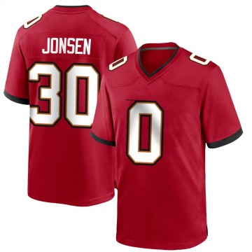 Youth Nike Tampa Bay Buccaneers Travis Jonsen Red Team Color Jersey - Game