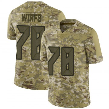 Youth Nike Tampa Bay Buccaneers Tristan Wirfs Camo 2018 Salute to Service Jersey - Limited