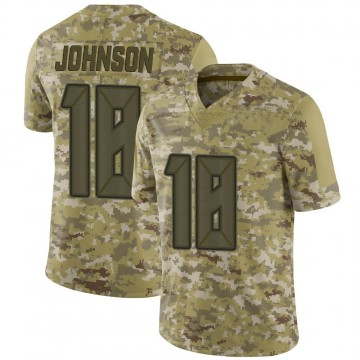 Youth Nike Tampa Bay Buccaneers Tyler Johnson Camo 2018 Salute to Service Jersey - Limited