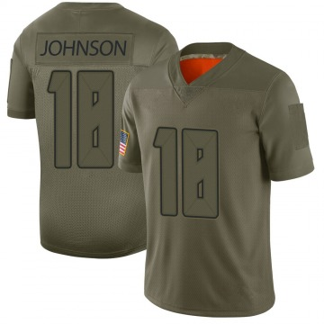 Youth Nike Tampa Bay Buccaneers Tyler Johnson Camo 2019 Salute to Service Jersey - Limited