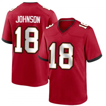 Youth Nike Tampa Bay Buccaneers Tyler Johnson Red Team Color Jersey - Game
