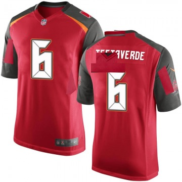 Youth Nike Tampa Bay Buccaneers Vincent Testaverde Red 6 Team Color Jersey - Game
