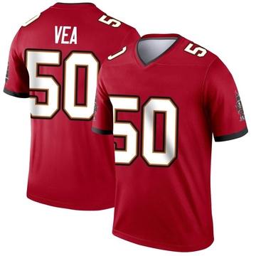 Youth Nike Tampa Bay Buccaneers Vita Vea Red Jersey - Legend