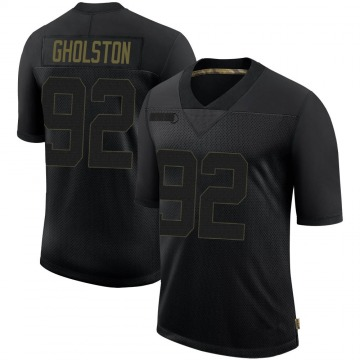 Youth Nike Tampa Bay Buccaneers William Gholston Black 2020 Salute To Service Jersey - Limited