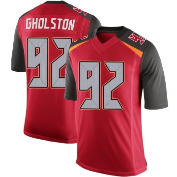 Youth Nike Tampa Bay Buccaneers William Gholston Red 100th Vapor Jersey - Limited