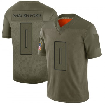 Youth Nike Tampa Bay Buccaneers Zach Shackelford Camo 2019 Salute to Service Jersey - Limited
