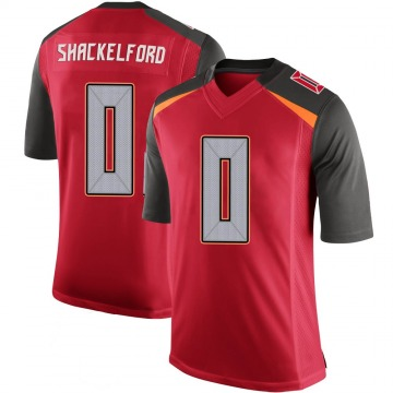 Youth Nike Tampa Bay Buccaneers Zach Shackelford Red 100th Vapor Jersey - Limited