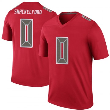 Youth Nike Tampa Bay Buccaneers Zach Shackelford Red Color Rush Jersey - Legend